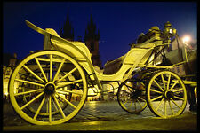 248055 CAVALLO CARROZZE A Old Town NOTTE A4 FOTO STAMPA