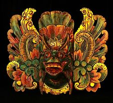 BALI INDONESIAN  HANUMAN MASK - NEW WOODEN - GREEN