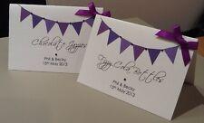 10 x Handmade personnalisé Bunting candy buffet sucré cartes de nom d'étiquette