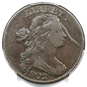 1802 S-239 R-3 PCGS VF 20 Draped Bust Large Cent Coin 1c