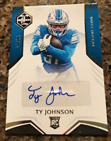 2019 PANINI-LIMITED TY JOHNSON RC AUTH AUTOGRAPH SN 86/99 ROOKIE DETROIT NO.#224