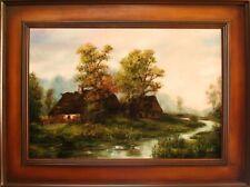 Bauernhof Landschaft Gemälde Handarbeit Ölbild Bild Ölbilder Rahmen BilderG06331