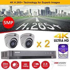 Hikvision CCTV HD 1080P 5MP Night Vision 4K DVR Home Security System Kit 1T