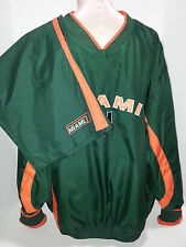 STARTER Mens Jogging Track Suit Pants Jacket Miami Hurricanes Mens Size XL Green