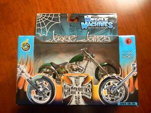 Muscle Machines West Coast Choppers Jesse James Diablo Soft Tail 1:18 Scale