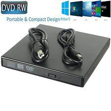 External USB 2.0 Slim Drive DVD RW CD RW Burner Copier Writer Reader Rewriter UK