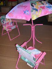 chaises et parasol DISNEY princess