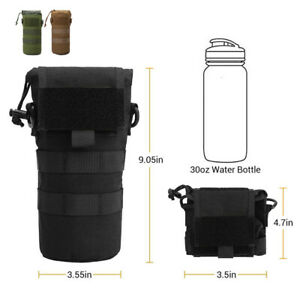 1000D Nylon Molle Foldable Bags Water Bottle Holder Carrier Pouch Bag with Cover