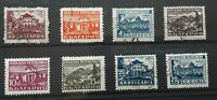 Bulgaria 1948  - Health Resorts set of 8 used stamps SG711-716
