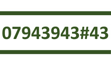 943 943 #43 EE SIM CARD GOLD EASY PLATINUM VIP MOBILE PHONE NUMBER 07943943#43