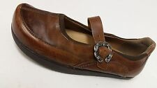 Earth Comfort Women's Brown Leather Casual Sporty Slip Ons Sz 7B