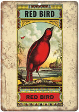 "Red Bird Vintage Label Ad 10"" X 7"" Reproduction Metal Sign N430"
