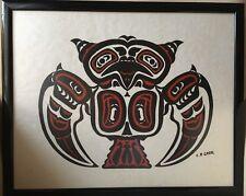 Chouette Haida. - Sérigraphie Charles B Greul - Art Inuit