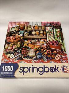 Springbok 1000 Piece Jigsaw Puzzle Preserves! Complete