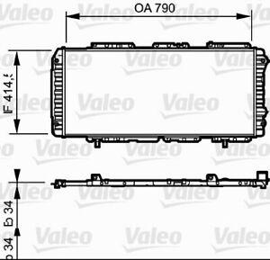 VALEO RADIATOR Fits FIAT DUCATO 230,244 2.3L/2.8L 97-06 731611