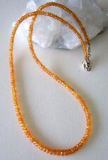 Spessartin Kette orange - 65 Karat - 46 cm - Mandarinen Granat -  925 Silber