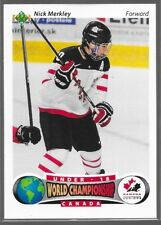 15/16 UD Team Canada Juniors 91/92 U18 Retro Nick Merkley R18-4