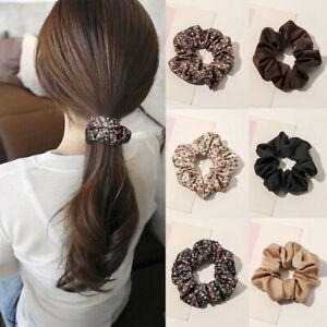1Pcs Floral Elastic Hair Rubber Bands Satin Fashion Sweet Hair Accessories