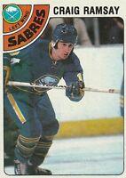 1978-79 Topps Hockey Craig Ramsay #9 Buffalo Sabres EXC