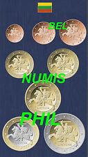 LITOUWEN/LITUANIE 2015 - 8 Munten/Monnaies uit de zak/sachet - UNC!!!