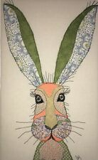 Original Fabric Art Hare free machine appliqué