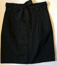 Ted Baker Button Front Black Size 2 Skirt