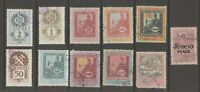 Hungary Revenue Fiscal Cinderella stamps 4-23-6 used