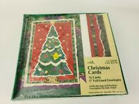 VTG Gibson Christmas Tree Holiday Greeting Cards Foil Lined Envelopes (16 Count)