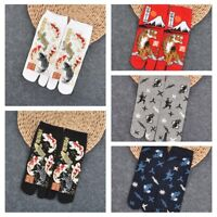 Multicolor Split Toe Sandal Middle Short Geta Kimono Flip Flop Socks Women Men