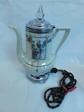 LUSTREWARE BIRD OF PARADISE ELECTRIC COFFEE POT ART DECO ROBESON ROCHESTER EATON