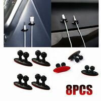 8PCS Multi-Purposes Car Wire Cable Holder Car Charger Line Clip Organizer