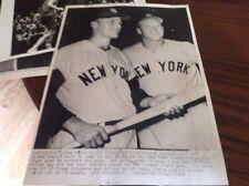 MICKEY MANTLE ROGER MARIS 1960 NEW YORK YANKEES MLB BASEBALL PHOTO METS RANGERS
