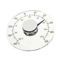 Circulaire Transparent Thermomètre Pour Fenêtre Extérieure, Outil De F3F4