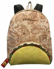 NWT Betsey Johnson Kitsch Backpack Let's Taco About It + Hot Sauce Packet