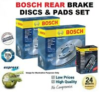 BOSCH REAR AXLE BRAKE DISCS + PADS SET for OPEL VIVARO Box 2.5 DTI 2003->on