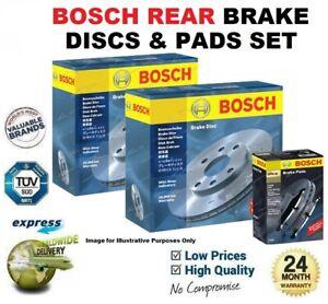 BOSCH REAR AXLE BRAKE DISCS + PADS SET for VOLVO V70 II 2.3 2000-2004