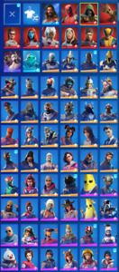 Full Mail access RARE SKINS Black Knight and +100 skins and lvl account +1300