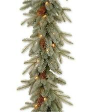 National Tree Company Feel Real Frosted Arctic Spruce Pre Lit Garland 9 Ft.