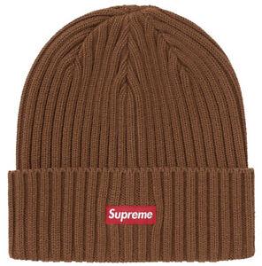 SUPREME HAT: *NIB* OVERDYED BEANIE BROWN SS21 ~BRAND NEW~