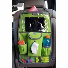 Backseat Organizer Car Seat Organizer  Kick Mat Tablet and Napkin Holder Green