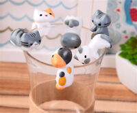 6Pcs/Set Cartoon Animal Cup Cake Decoration Ornaments mini Figure Toys