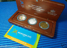 2006 Australia Melbourne XVIII Commonwealth Games ($50+$5+$5) Three Coin Set
