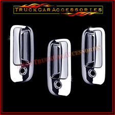 For CHEVY Express 2003-2013 2014 2015 Chrome 3 Door Handle Covers WITH Keyholes