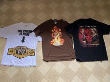 WWF WWE TShirt Lot John Cena Shawn Michaels Charlotte Flair Sasha Banks