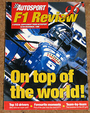Autosport 1996 F1 REVIEW - How Schumacher Saved Ferrari, Teams Assessed