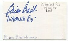 Diamond Rio - Brian Prout Signed 3x5 Index Card Autographed Signature