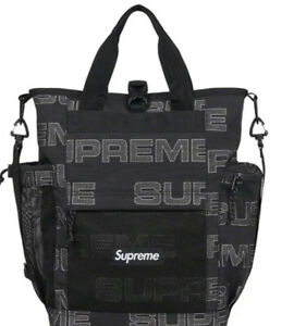 SUPREME UTILITY TOTE BLACK OS/ FW21/ 100% AUTHENTIC BRAND NEW/ (IN HAND)