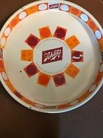 "Vintage 1968 Schlitz Metal Beer Tray Round Orange White 13"" Milwaukee"