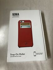 Sena iPhone 6/6s Snap On Wallet Case - Red