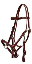 Showman BURGUNDY Leather Combination Halter Bridle w/ Reins!!! NEW HORSE TACK!!!